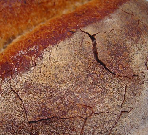 cracks on barm bread