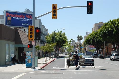Bike Signals at a protected bike lane