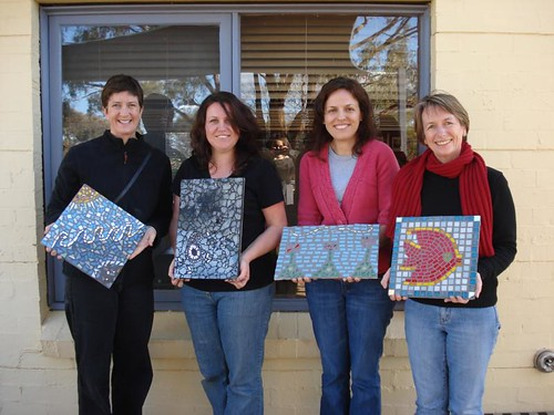 Exterior Mosaics + TG students!!