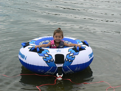 Jet Skiing - Kristin in Tube