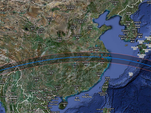 Path of Total Solar Eclipse in China