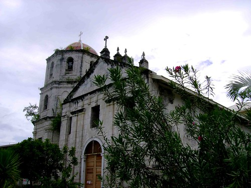 The Church of Oslob from a distance appears as if its still whole