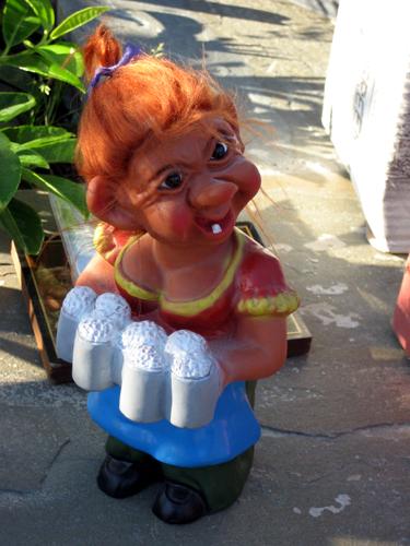 Disturbing beer-toting troll