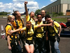 Team #BlameDrewsCancer Skydive (7/18/09)