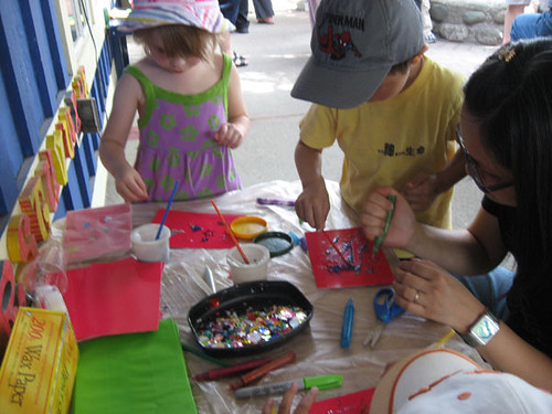 Kids craft table at the Champlain BBQ
