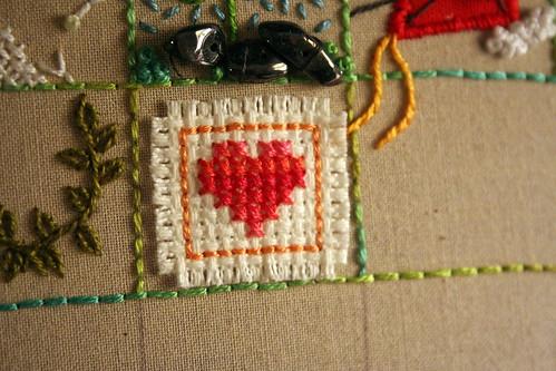 Square 10: X-Stitch Heart
