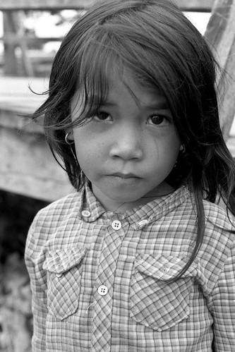 smallest girl - border town, Cambodia