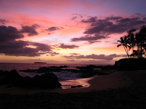 Secret Cove Maui Sunset