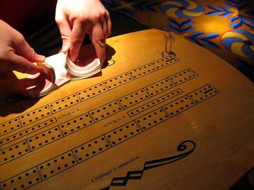 our cribbage table