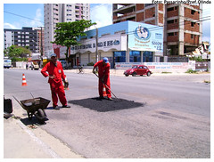 Operação Tapa Buraco na Av. Carlos de Lima Cavalcanti