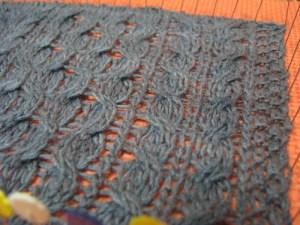 honecomb scarf swatch #2