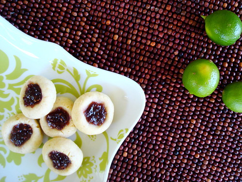 key lime raspberry thumbprint cookies bake me away. Black Bedroom Furniture Sets. Home Design Ideas