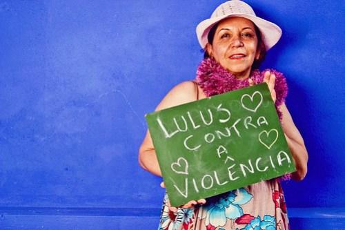 Marcia Bianco pelo fim da violência. Foto: Gabi Butcher, sob CC