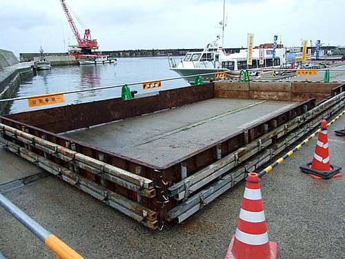「笹川流れ海の縁日」の準備!~桑川港