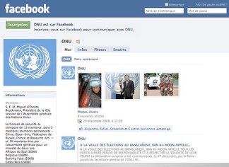 Page Facebook de lONU