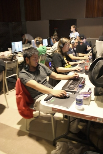 Myself chillin at Battle Royale 3 with ukm beside me.