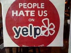 Image: People Hate Us on Yelp
