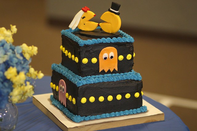 The happy couple: Mr. and Mrs. Pac-Man!