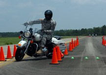 Motorcycle training at Fort Bragg-Police Motor...