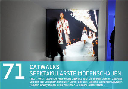 Catwalks at the NRW Forum in Düsseldorf, Germany
