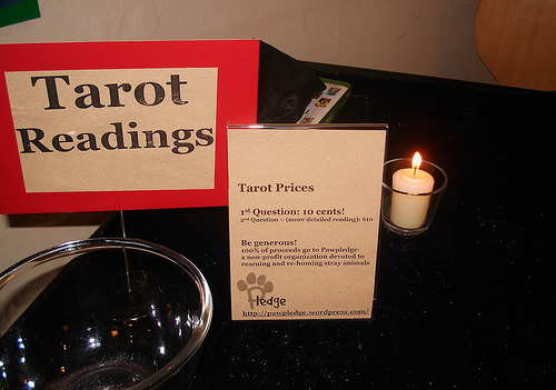 Mysterious Tarot Reading corner