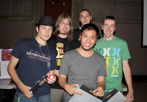 left to right: Alex (lopert), Peter (ukm), Donny (Helix), Myself (aSydiK), Richard (Sharpshooter)