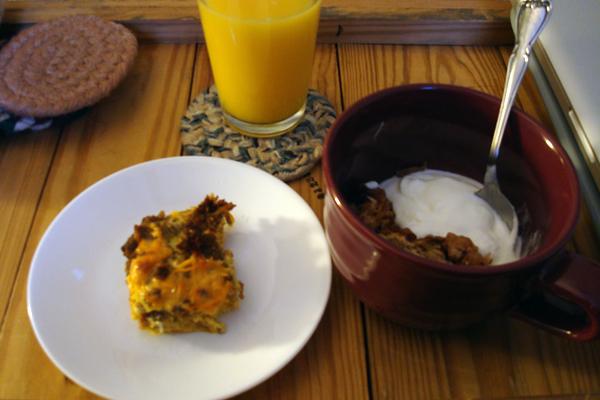 10-26 breakfast of leftovers