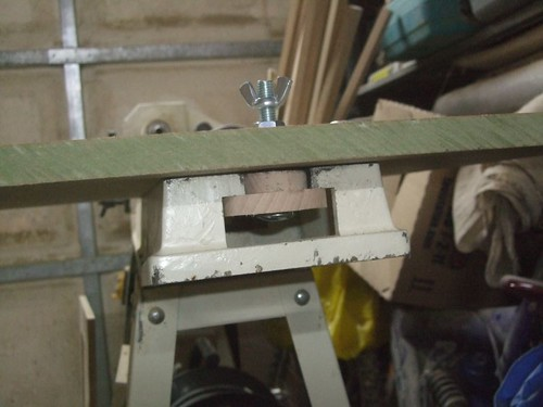 How the disc sander table is secured to my lathe,