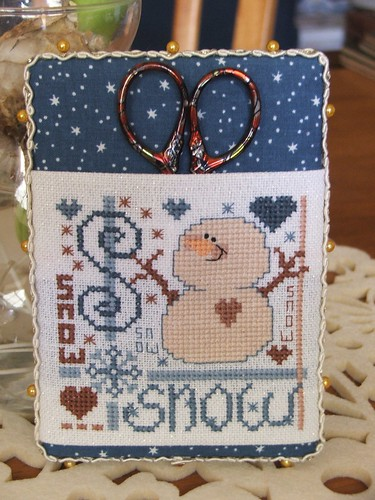 Snowman Sampler Scissor Pocket from Carol