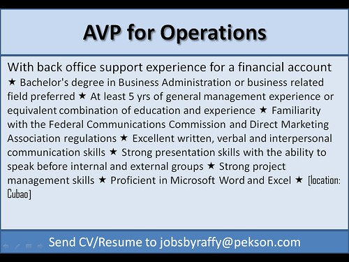 AVP for Operations