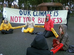 peaceful resistance disrupts Chevron headquarters