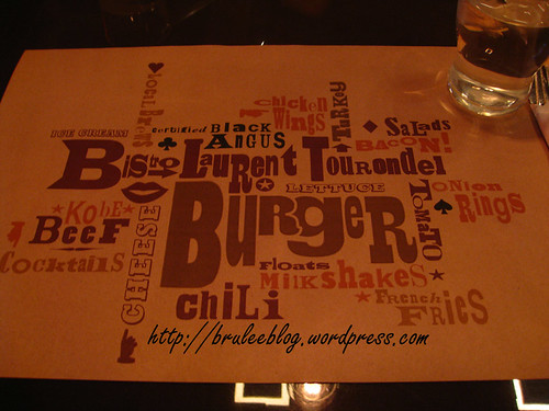 BLT Burger placemat