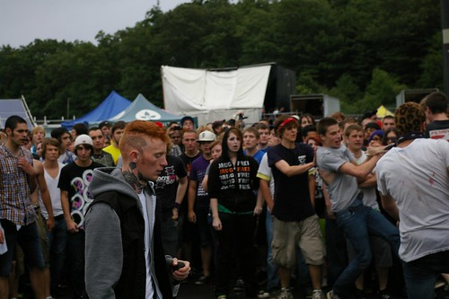 Gallows Frank Carter in the mosh pit