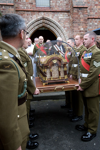Soldiers sharing 43 medals between them carried St Therese into Preston Carmel