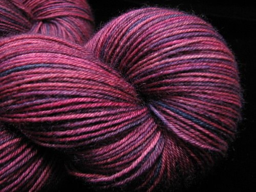 Wine Stompin - Hand Dyed Bengal BFL 4 ply Sock Knitting Yarn