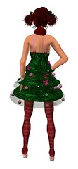 Xmas Tree Pixie {Back}