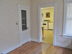 Living room, looking into kitchen