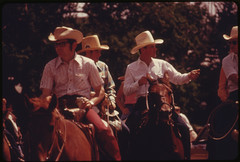 Horse Riders, One with a Can of Beer, Parade D...