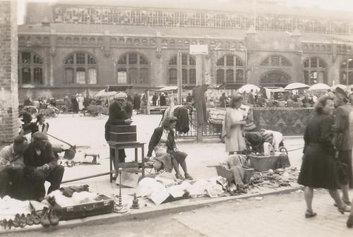 Flea market, Poland, summer 1946
