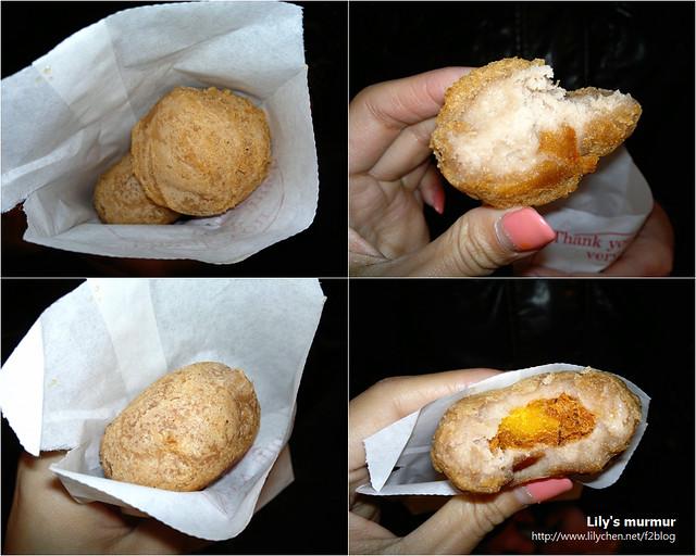 上排是香酥芋丸,下排是芋黃蛋餅,個人偏好芋黃蛋餅,但香酥芋丸也很好吃。