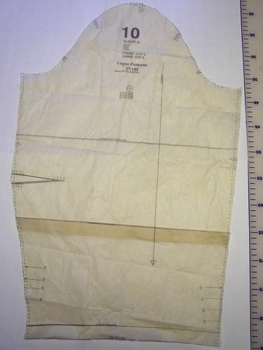 Sleeve Pattern piece