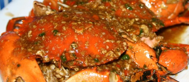Red Trellis Sweet Chili Crabs.  Mouth-watering, isnt it?