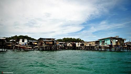 water village at Pulau Gaya.