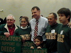 Creigh Deeds With Supporters