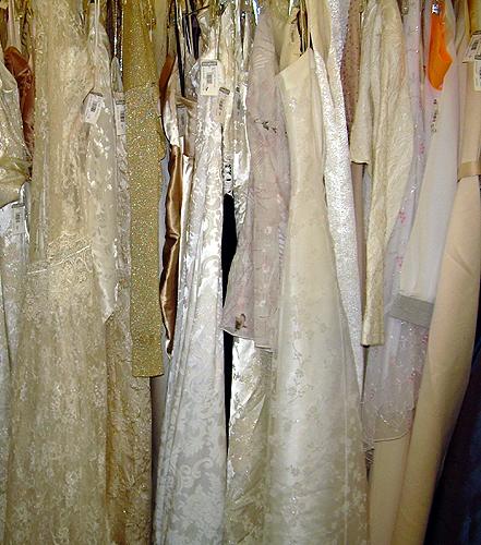 A plethora of wedding dresses