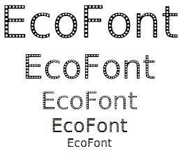 EcoFont (sizes 48 down to 12)