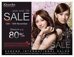 Kanebo year end sale