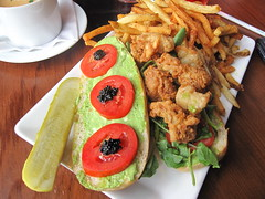 5 seasons brewing company - oyster po boy
