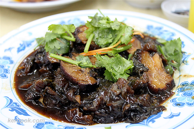 Hainanese Mei Cai with Braised Pork