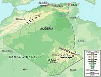 carte d'Algérie